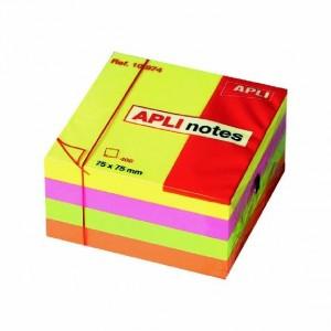 Αυτοκόλλητος κύβος Apli 75x75mm Neon