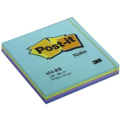 Αυτοκόλλητα χαρτάκια Post-it 654RB 76x76mm