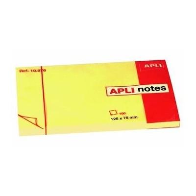 Αυτοκόλλητα χαρτάκια Apli 125x75mm κίτρινα