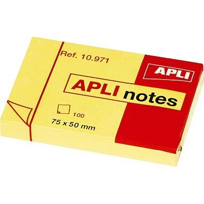 Αυτοκόλλητα χαρτάκια Apli 50x75mm κίτρινα
