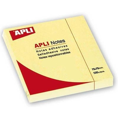 Αυτοκόλλητα χαρτάκια Apli 75x75mm κίτρινα