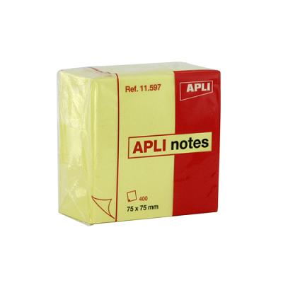 Αυτοκόλλητος κύβος Apli 75x75 Κίτρινος