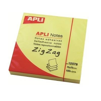 Αυτοκόλλητα χαρτάκια Apli Zig-Zag 75x75mm