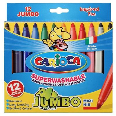 Μαρκαδόροι Carioca Jumbo 12τεμ.