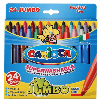 Μαρκαδόροι Carioca Jumbo 24τεμ.