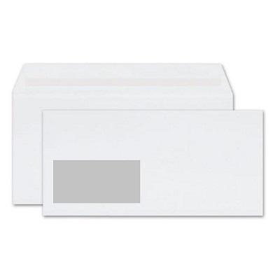 Φάκελος 114×229mm με αριστερό παράθυρο λευκός 500τεμ.