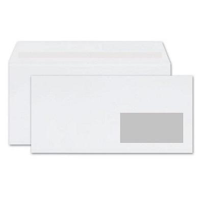 Φάκελος 114×229mm με δεξί παράθυρο λευκός 500τεμ.