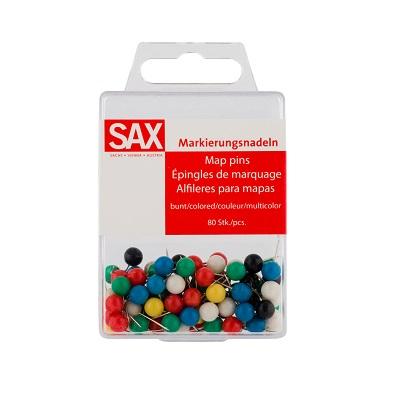 Καρφίτσες χρωματιστές Sax 12mm 80τεμ.