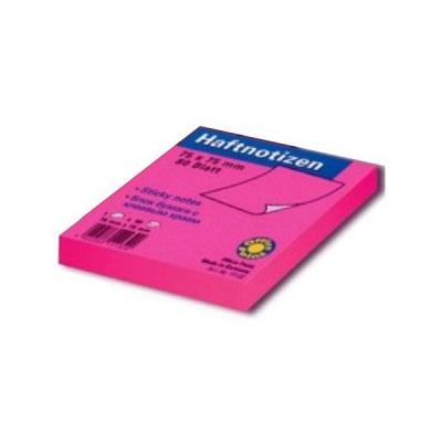 Αυτοκόλλητα χαρτάκια Officepoint 75x75mm ροζ