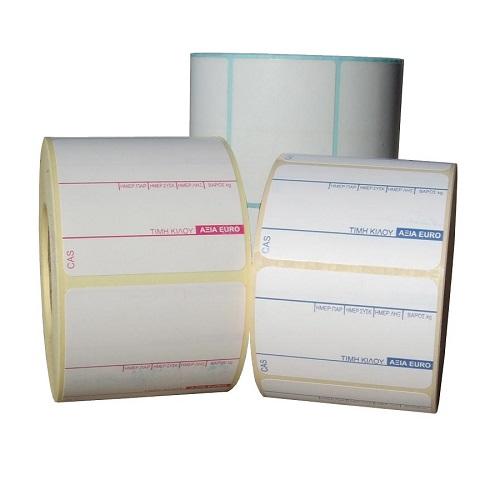 Θερμικές ετικέτες με τύπωμα ζυγαριάς 57x40