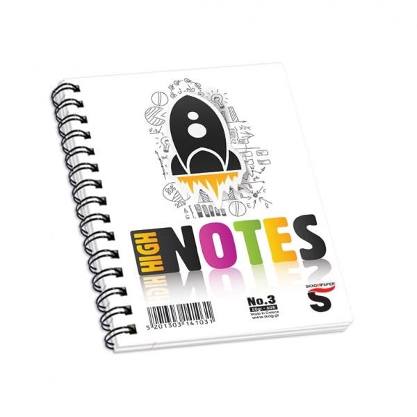 Μπλοκ σπιραλ Skag High Notes 10x15 No3 60φ.