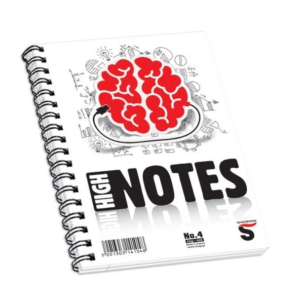 Μπλοκ σπιραλ Skag High Notes 13x18 No4 60φ.