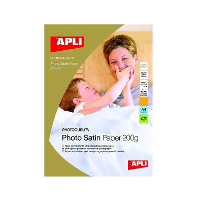 Apli Photo Paper Satin 210x297 200gr. 10φ.