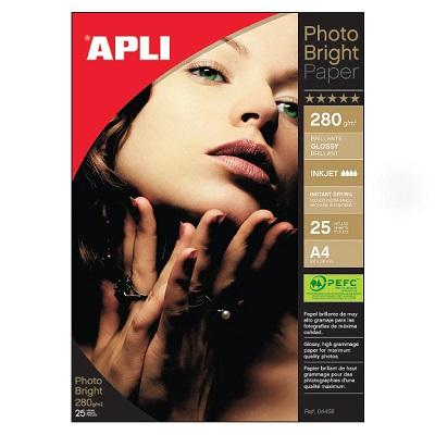 Apli Photo Bright Paper 210x297 280gr. 25φ.