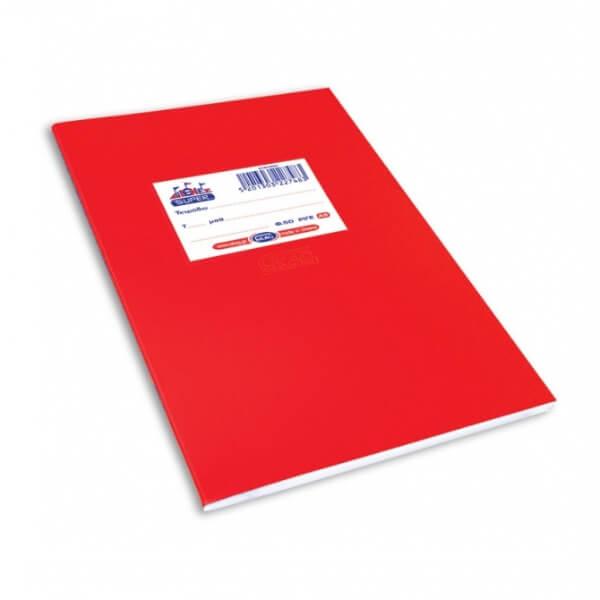 Τετράδιο αντιγραφής ΜΦ Skag 17x25 80gr 50Φ κόκκινο