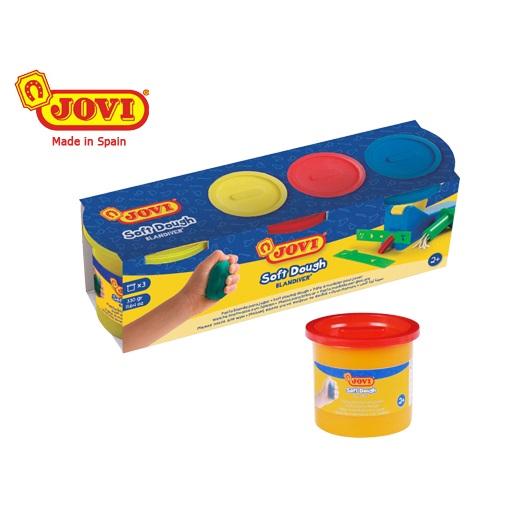Πλαστελίνη Jovi Soft Dough 3 χρώματα 110gr.