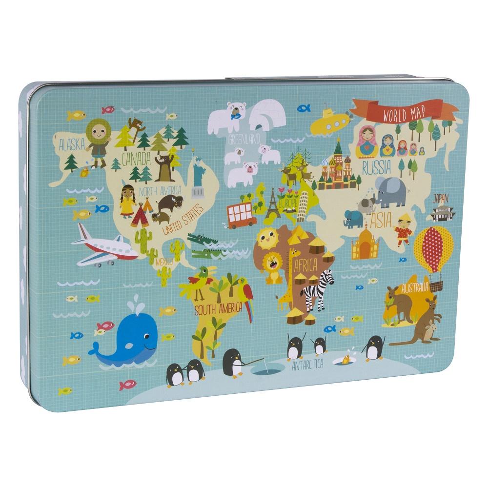"""Apli Kids Puzzle """"World Map"""" Box 24pcs 3+ (14550)"""