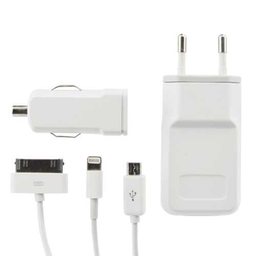 APPLE - TRAVEL CHARGER 220VAC & CAR 1A WHITE UNIVERSAL