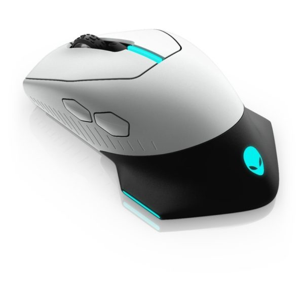 DELL Alienware Wired/Wireless Gaming Mouse - AW610M - Lunar Light