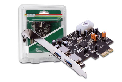 INTERNAL CARD PCIE1X TO 2USB3.0 PORTS LOW PROFILE