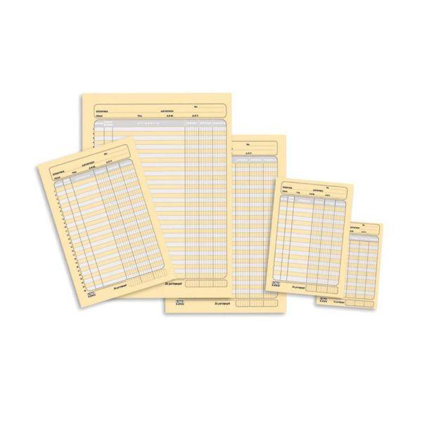 Λογιστικές καρτέλες 14x21 3 στήλες 300 φύλλα