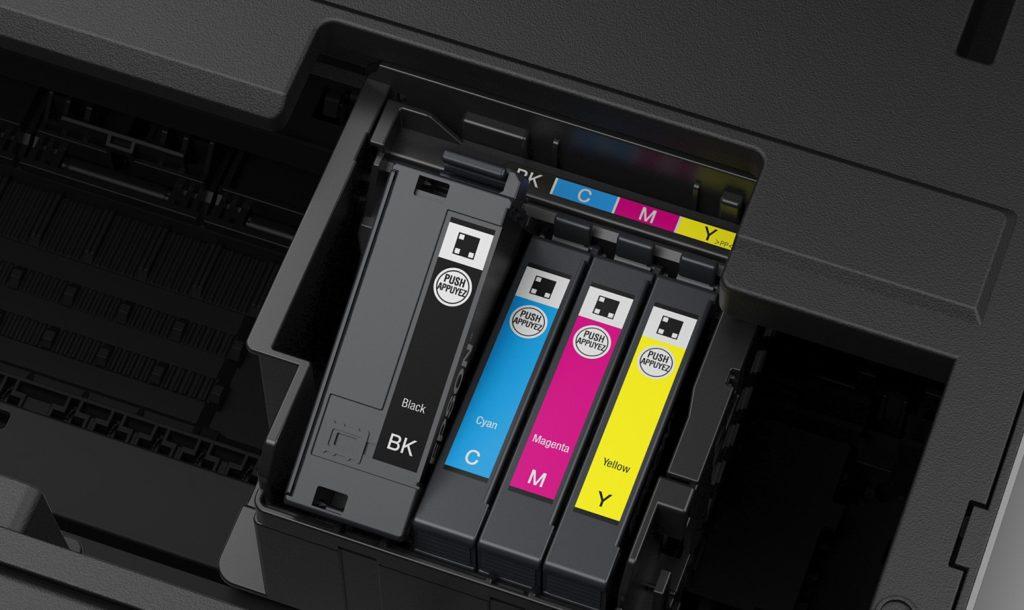 Ξεχωριστά μελανοδοχεία ανά χρώμα Inkjet εκτυπωτή
