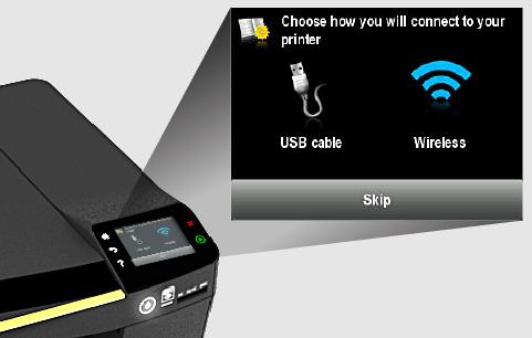 USB & Wifi Σύνδεση Printer